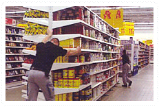 FOURMI FACILITE LE DEPLACEMENT DE GONDOLES CHARGEES