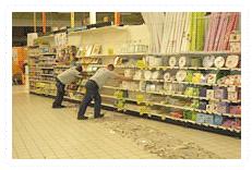 OURMI Moving supermarket shelving with 360° turning capacity