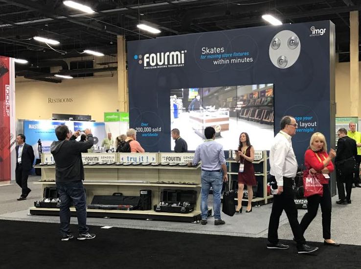 FOURMI Shelf Movers at GlobalShop 2017